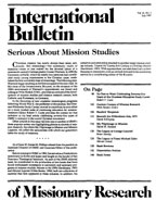 International Bulletin of Missionary Research Magazine - ReligionUS magazine subscriptions