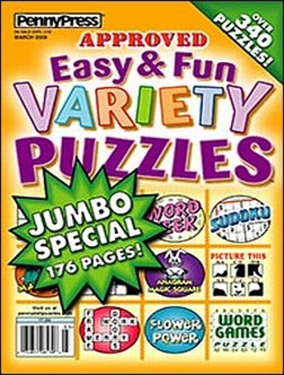 Approved Easy Fun Variety Puzzles Magazine Subscription