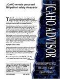 JCAHO Advisor for Behavioral Health Care Providers Magazine