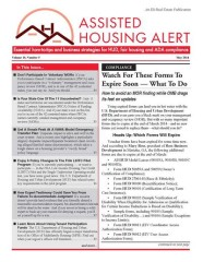 Assisted Housing Alert Magazine Subscription