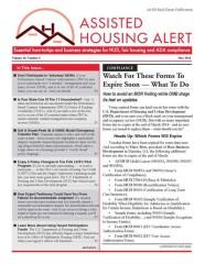 Assisted Housing Alert Magazine