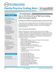 Family Practice Coding Alert Magazine Subscription