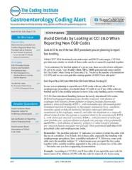 Gastroenterology Coding Alert magazine subscription