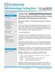Ophthalmology Coding Alert magazine subscription