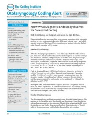 Otolaryngology Coding Alert magazine subscription