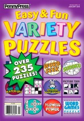 Approved Easy & Fun Variety Puzzles Magazine